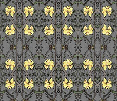 Native Pea Flower fabric by engelstudios on Spoonflower - custom fabric