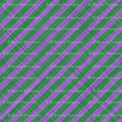 Diagonal Linen Stripe - Lavender Green