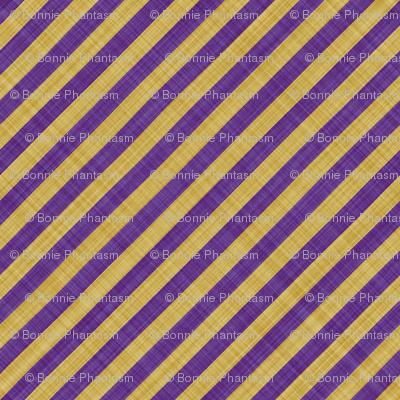 Diagonal Linen Stripe - Purple Yellow
