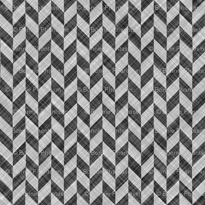Chevron Linen - Zigzag Alternate - Black White