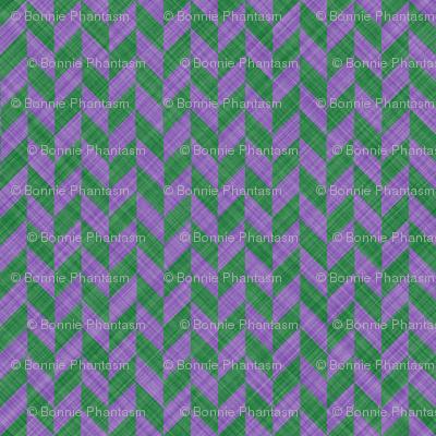 Chevron Linen - Zigzag Alternate - Lavender Green