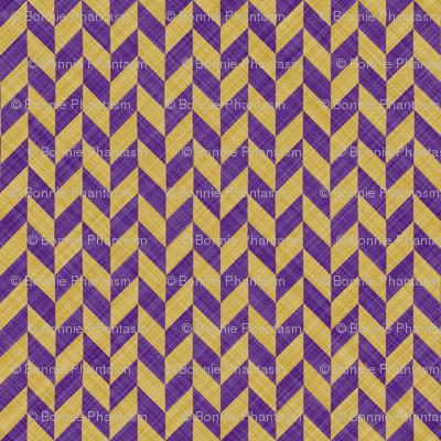 Chevron Linen - Zigzag Alternate - Purple Yellow