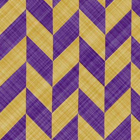 Chevron Linen - Zigzag Alternate - Purple Yellow fabric by bonnie_phantasm on Spoonflower - custom fabric