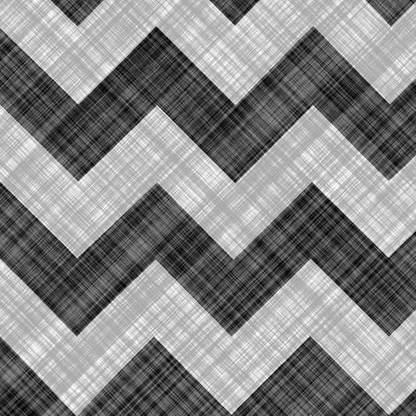 Chevron Linen - ZigZag - Black White fabric by bonnie_phantasm on Spoonflower - custom fabric
