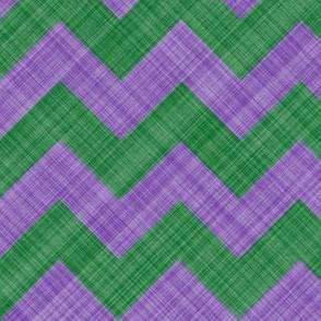Chevron Linen - Zigzag - Lavender Green