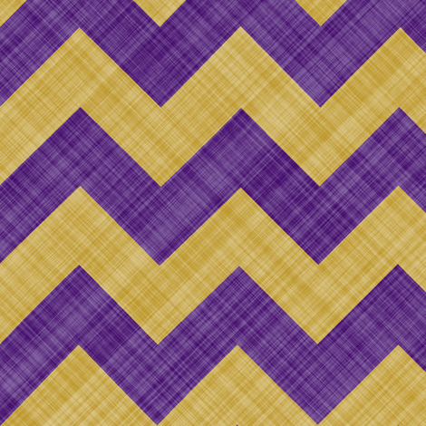 Chevron Linen - Zigzag - Purple Yellow fabric by bonnie_phantasm on Spoonflower - custom fabric