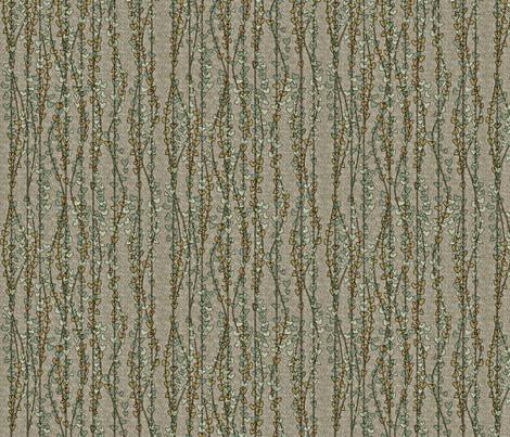 klimt vines earthen fabric by glimmericks on Spoonflower - custom fabric