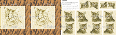 Tygr Tabby Cat Pillow