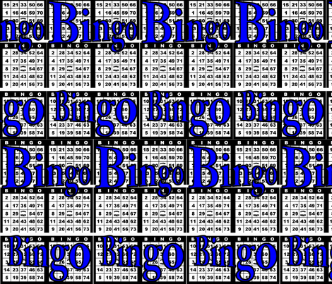 Bingo Black paper with Bingo text fabric by dd_baz on Spoonflower - custom fabric