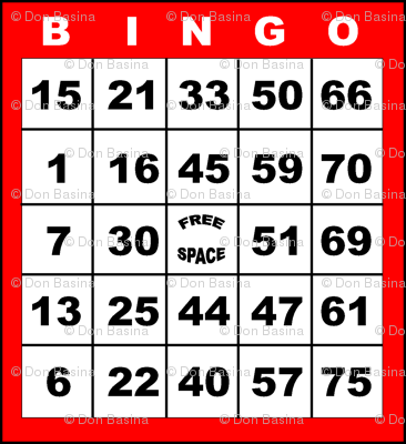 Bingo Red 1on