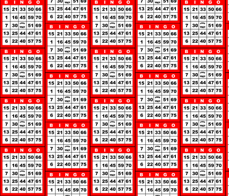 Bingo Red 1on fabric by dd_baz on Spoonflower - custom fabric