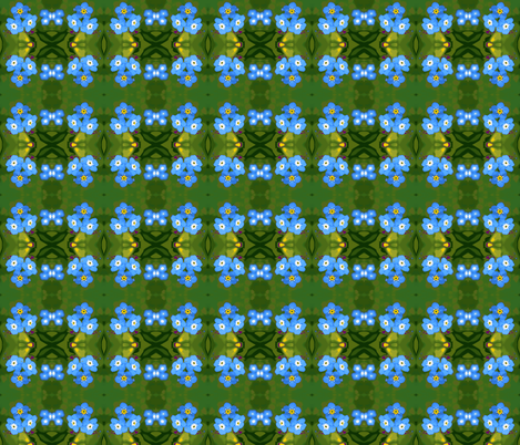Forget me knot bouquets fabric by engelstudios on Spoonflower - custom fabric