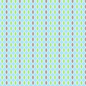 gray and green ring dots stripe