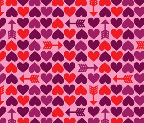 Hearts & Arrows fabric by edward_elementary on Spoonflower - custom fabric