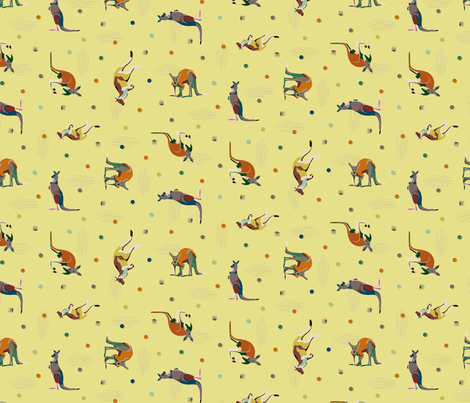 Kangadots fabric by darcibeth on Spoonflower - custom fabric