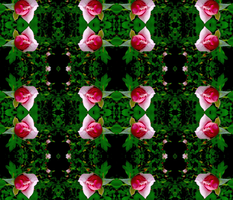 Rosebuds of May fabric by engelstudios on Spoonflower - custom fabric
