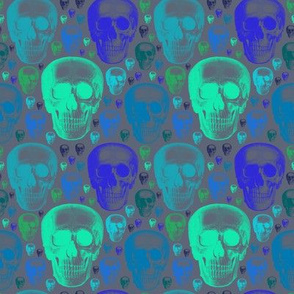 skulls greens/blues one direction