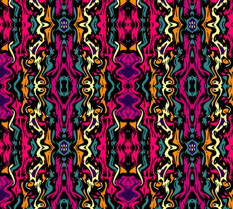 Hot Pink Abstract fabric by jazmeen on Spoonflower - custom fabric