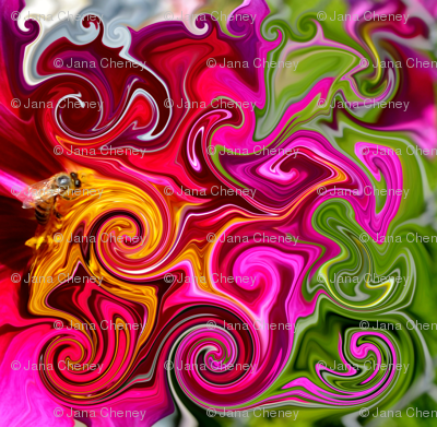 Groovy bee pink