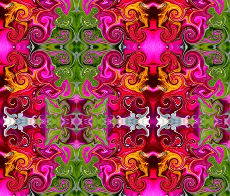 Groovy bee pink fabric by janalinde on Spoonflower - custom fabric