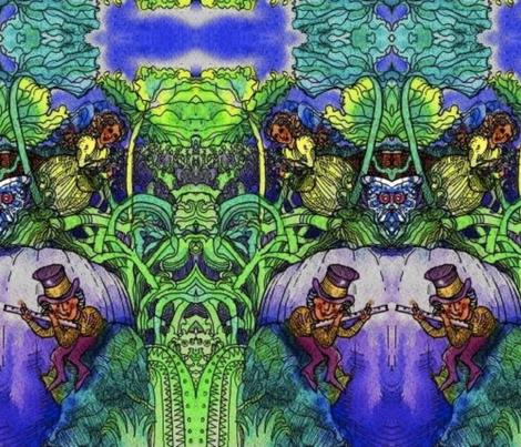 NIGHT_FAIRY-ed fabric by cherb on Spoonflower - custom fabric