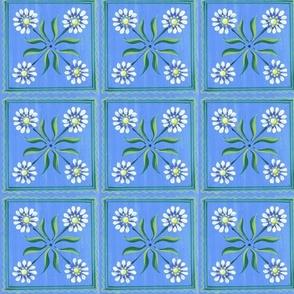 Big daisy-blue