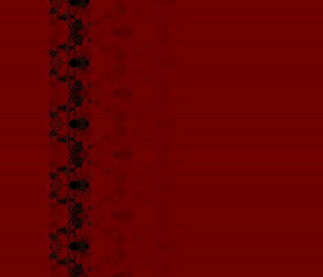 Wine-Red Cicada Pinstripe Border fabric by redsixwing on Spoonflower - custom fabric