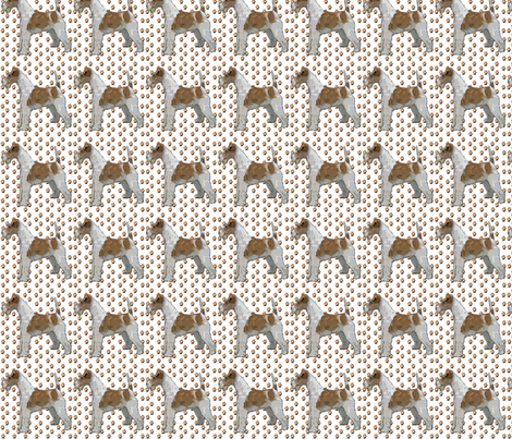 Wire Fox Terrier andPaw Prints fabric fabric by dogdaze_ on Spoonflower - custom fabric