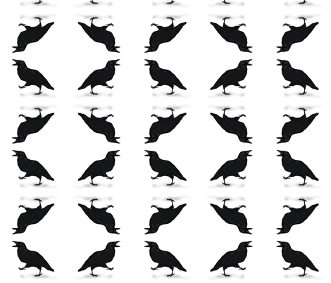 squawking and walking crow fabric by boneyfied on Spoonflower - custom fabric