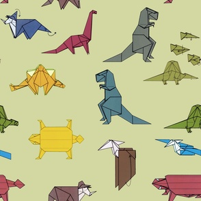 Dinogami, green
