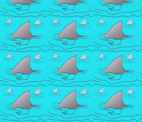 Jaws fabric by tajaan on Spoonflower - custom fabric