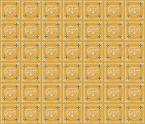 heart_card_yellow fabric by mybohohome on Spoonflower - custom fabric
