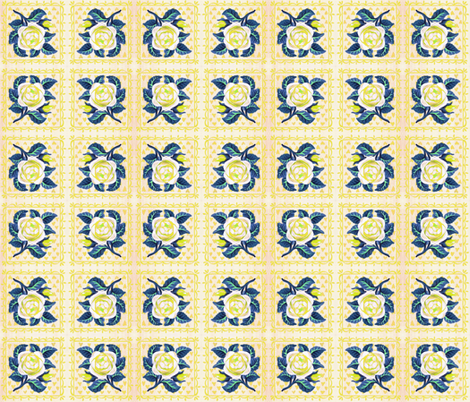 rose_yellow fabric by mybohohome on Spoonflower - custom fabric