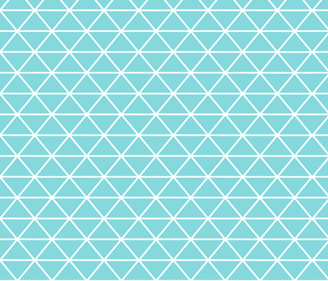Triangle Turquoise fabric by curious_nook on Spoonflower - custom fabric