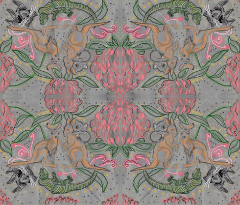 australian beauties fabric by angiekreuter on Spoonflower - custom fabric