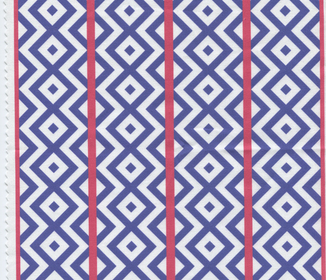 Blue Squares with Red Stripes