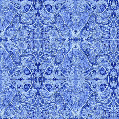 Swirlyblue fabric by edsel2084 on Spoonflower - custom fabric