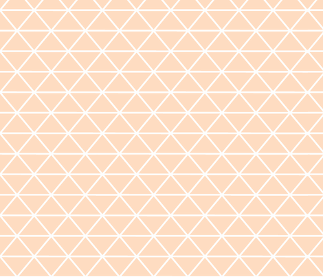Triangle Peach Nude fabric by curious_nook on Spoonflower - custom fabric