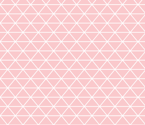 Triangle Pretty Pink fabric by curious_nook on Spoonflower - custom fabric