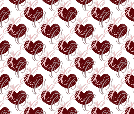 XO Heart fabric by peacefuldreams on Spoonflower - custom fabric