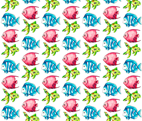 Sea of colour 2 fabric by suzannehoughton on Spoonflower - custom fabric