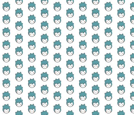 Blue Girl Pattern fabric by mintparcel on Spoonflower - custom fabric