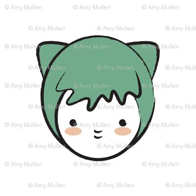 Green Girl Pattern