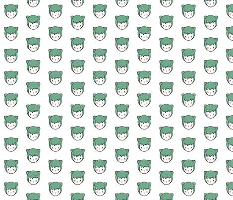 Green Girl Pattern fabric by mintparcel on Spoonflower - custom fabric