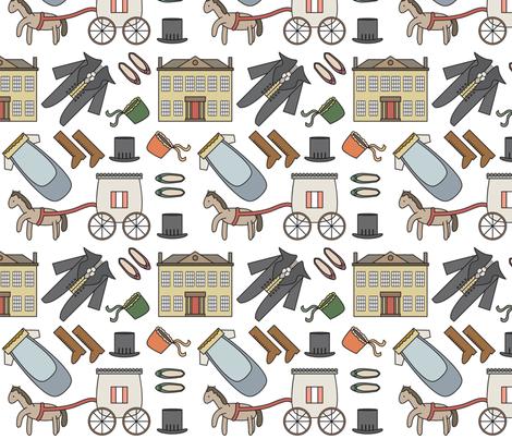 Jane Austen Theme Pattern fabric by mintparcel on Spoonflower - custom fabric