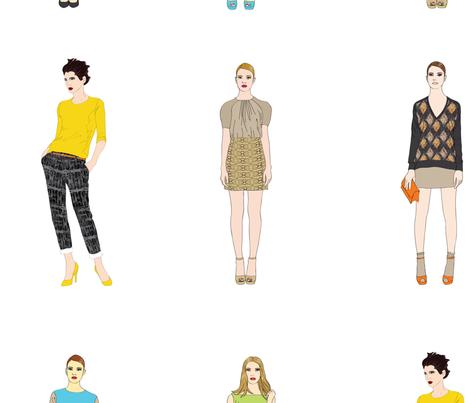 Girls, Girls, Girls fabric by angel_mio on Spoonflower - custom fabric