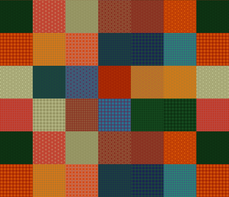 """Shandon Beauties Solids Sampler - 3"""" Squares fabric by stitchinspiration on Spoonflower - custom fabric"""