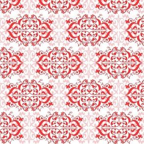 Coral Fleur de Lis