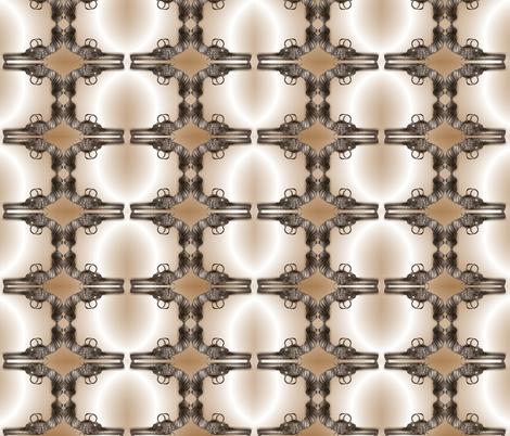 steampunk-gun-sepia fabric by boneyfied on Spoonflower - custom fabric