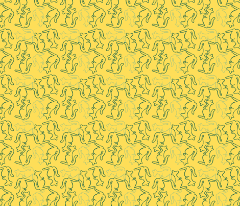 aussie_roos_sml fabric by renateandtheanthouse on Spoonflower - custom fabric